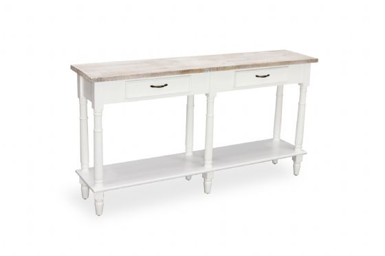 Fowey Large Console Table - White